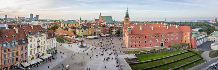 Royal Castle in Old Town, Warsaw. Panorama