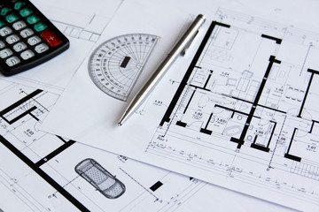 Plans of building, construction project