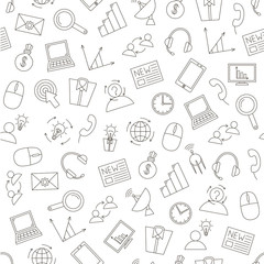 Communication&business pattern black icons