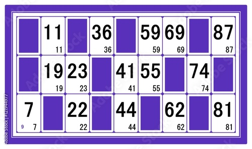 carton de loto num ro 9 fichier vectoriel libre de droits sur la banque d 39 images. Black Bedroom Furniture Sets. Home Design Ideas