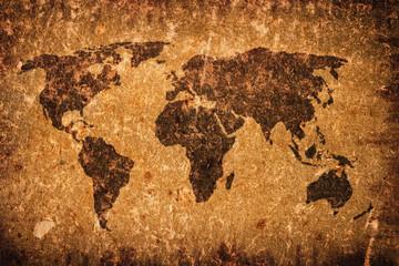 Old grunge world map