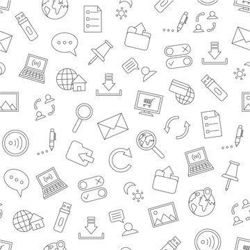 Pattern communication black icons