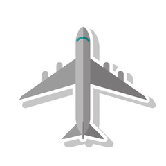 Airplane vehicle icon. Transportation travel and ride theme. Isolated design. Vector illustration