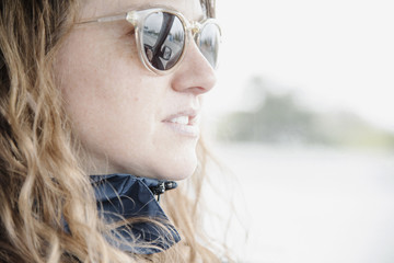 Woman in sunglasses. Portrait.
