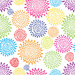 Abstract splash drop pattern. Firework flowers or lights spot background.