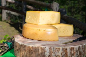 Mountain genuine cheeses