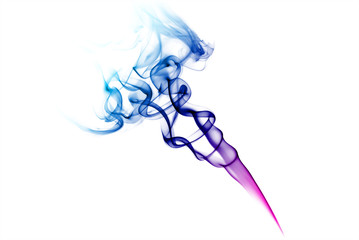 Colorful blue and purple smoke