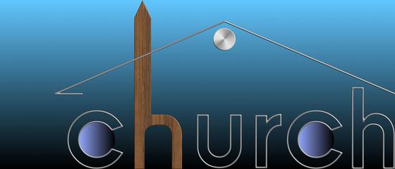 Church con il simbolo della casa