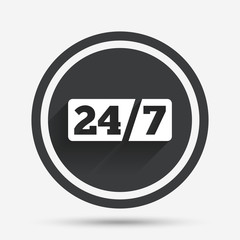Service and support for customers. 24 hours.