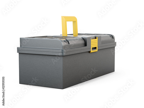 Plastic tool box isolated on white background 3d for Online rendering tool