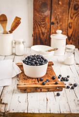 Ripe Blueberry bowl.