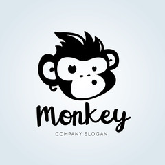 Monkey Logo Template.