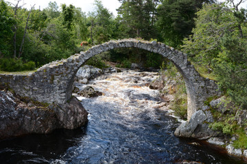 Packhorse Bridge Carrbridge - Blurred Water