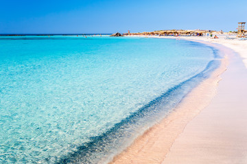 Clear water on Elafonisi beach. Crete. Greece.