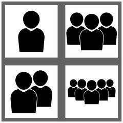 icons group people vector