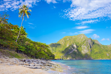 Beach at Dilumacad Island (Helicopter Island), El Nido