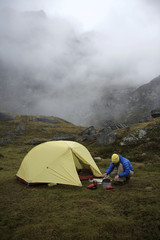 Backpacking in Alaska Talkeetna Mountains