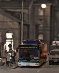 Modelbahn Busstop Bahnhof