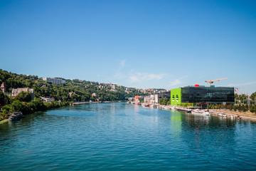 La Saône dans le quartier de Confluence à Lyon