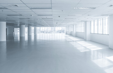 Bright clean empty office building floor