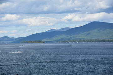 View of Lake George in New York State