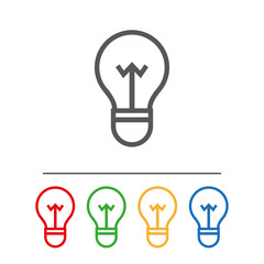 Bulb Icon.Flat image isolated on white background.Internet icon to use in web and mobile UI.Сolor set
