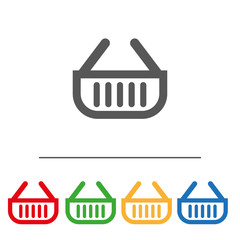 Shopping cart Icon.Flat image isolated on white background.Internet icon to use in web and mobile UI.Сolor set