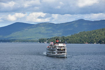 Boat in Lake George, New York