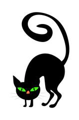halloween creepy scary witches cat vector symbol icon design.