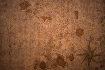 cape verde map on a old vintage crack paper background