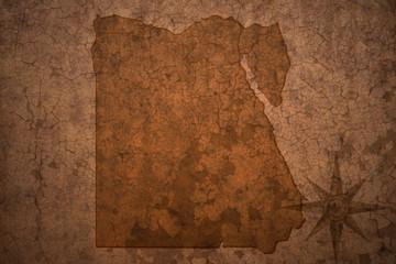 egypt map on a old vintage crack paper background