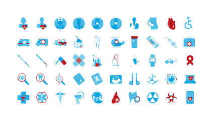 set of colored icons Medicine