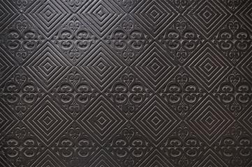 Old black metal door background texture