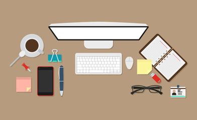 Standart workplace vector