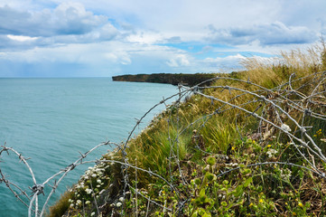 Nature and war, World War Two, Pointe du Hoc, Normandy, France