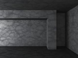 Dark concrete empty room background