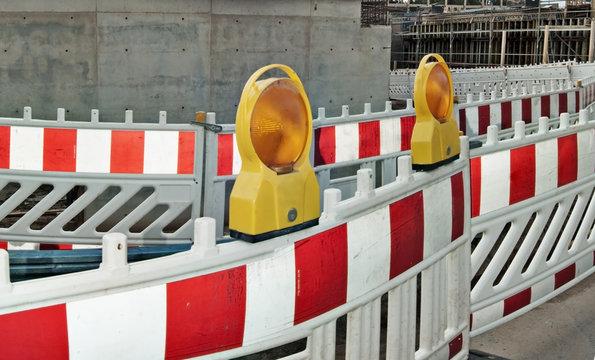 Baustelle Construction Site Warnleuchte