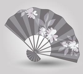 Vintage Japanese Folding Fan