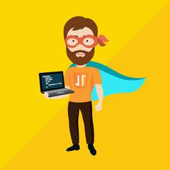 Java Script Specialist as Superhero