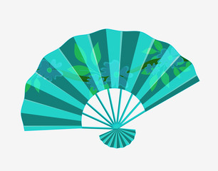 Traditional Folding Fan Vector