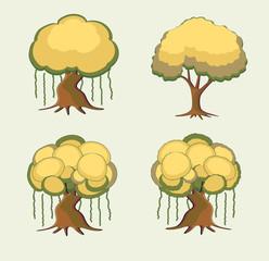 Bonsai Trees Vector Set