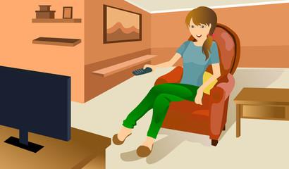 women watch TV