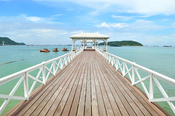"Wooden Bridge Name is ""Asadang Bridge"" in Srichang Island, Conbu"