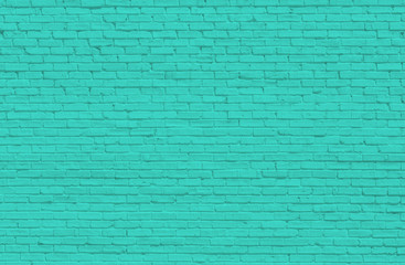 Turquoise brick wall