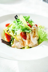 chicken salad with strawberry