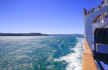 Photo sur Aluminium Pôle Marlborough Sounds seen from ferry New Zealand