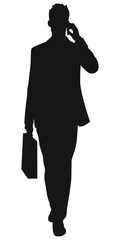 Silhouette eines Business Mannes