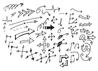 Vector hand drawn arrows set eps10