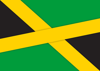 Background : The national flag of Jamaica in material design vector illustration