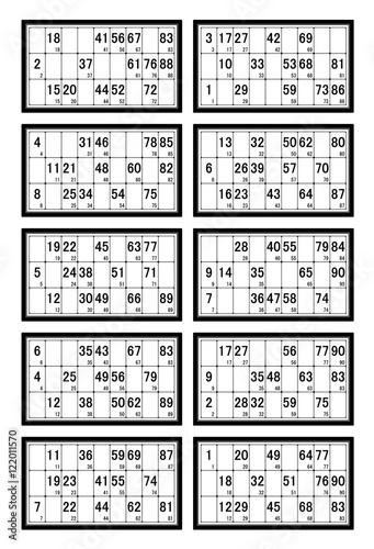 Cartes de loto fichier vectoriel libre de droits sur la banque d 39 images image - Grille de bingo a imprimer gratuit ...